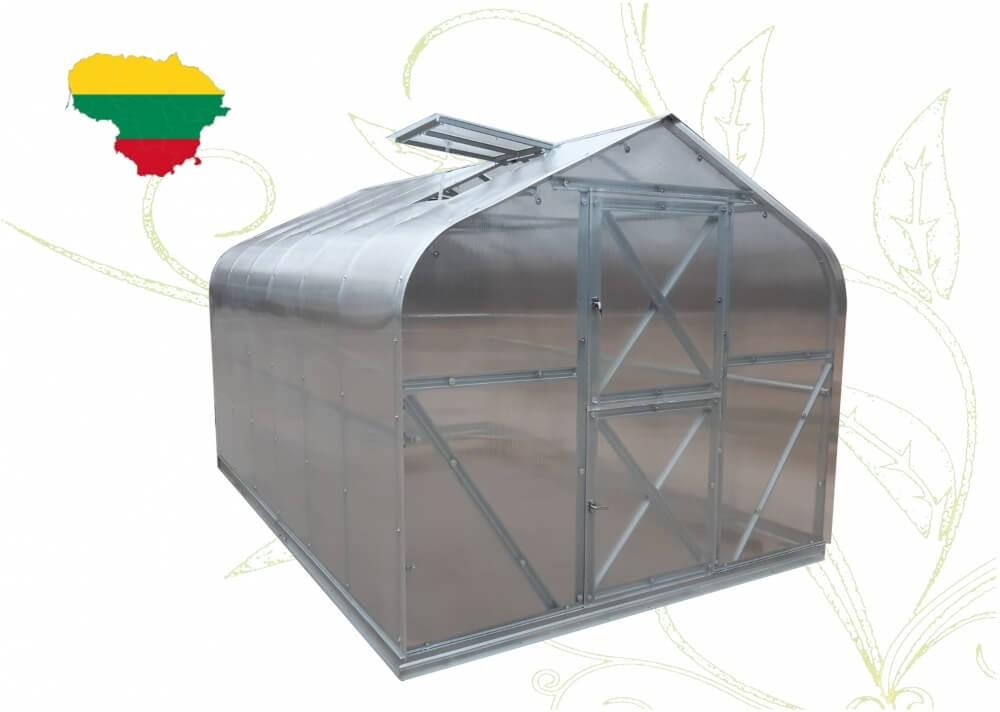 Šiltnamis Gilė, 10,56 m², 4 mm